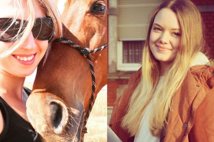 PHOTO: Anna Winther, left, and Julia Kohrs-Lichte were killed along with Tom Butcher when their vehicle became trapped as they tried to flee the Esperance bushfire in 2015. (Supplied: Facebook)
